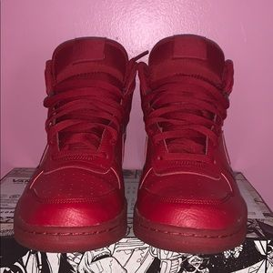 Red Nike High Tops.  Authentic Size 8